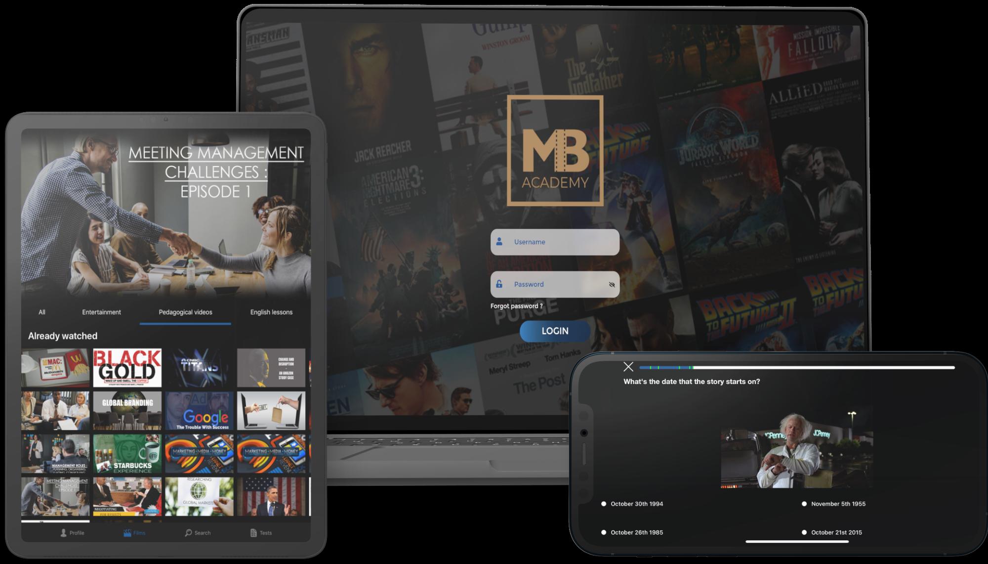 E-dutainment, une application utilisable sur PC, Tablette et Smartphone